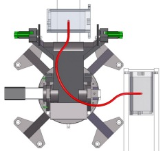 Spherical Robot to Rotate/Transfer Car Engine Block (SPRot)